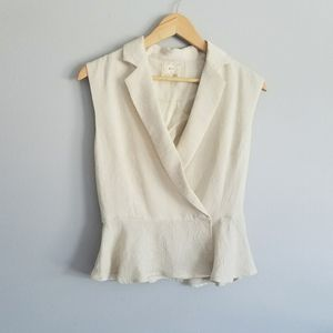 Pins and Needles Floral Textured Cream Top